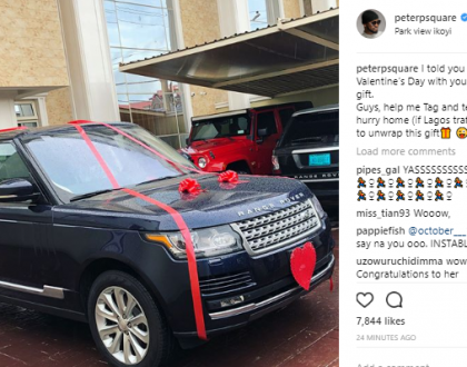 Peter Okoye buys wife, Lola Okoye a new Range Rover