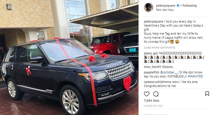 Peter Okoye buys wife, Lola Okoye a new Range Rover