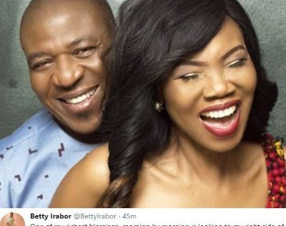 Betty Irabor shares that her richest blessing is her husband