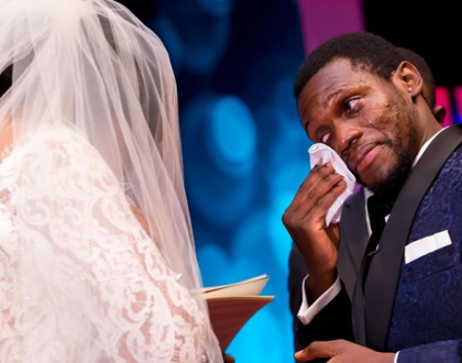Olu Jacobs and wife Joke Silva celebrate with son at his wedding