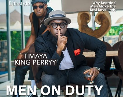Timaya and his new artist King Perry covers Vibe.ng magazine