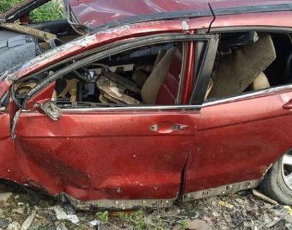 Singer Djinee survives ghastly crash in Lekki