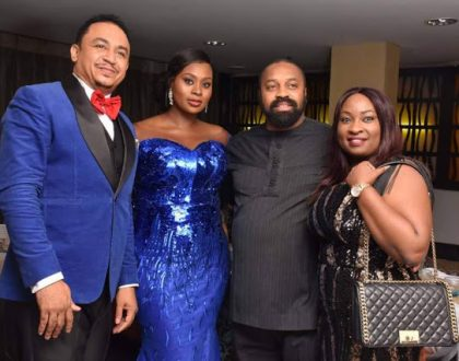 Daddy Freeze celebrates with wife, Benedicta as she clocks 40