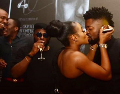 (Photo) Basketmouth and wife engaged in a deep kiss
