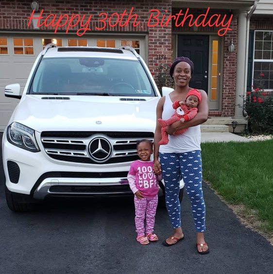 Ex NFL player, Ony Momah gifts his wife a Benz for her 30th birthday