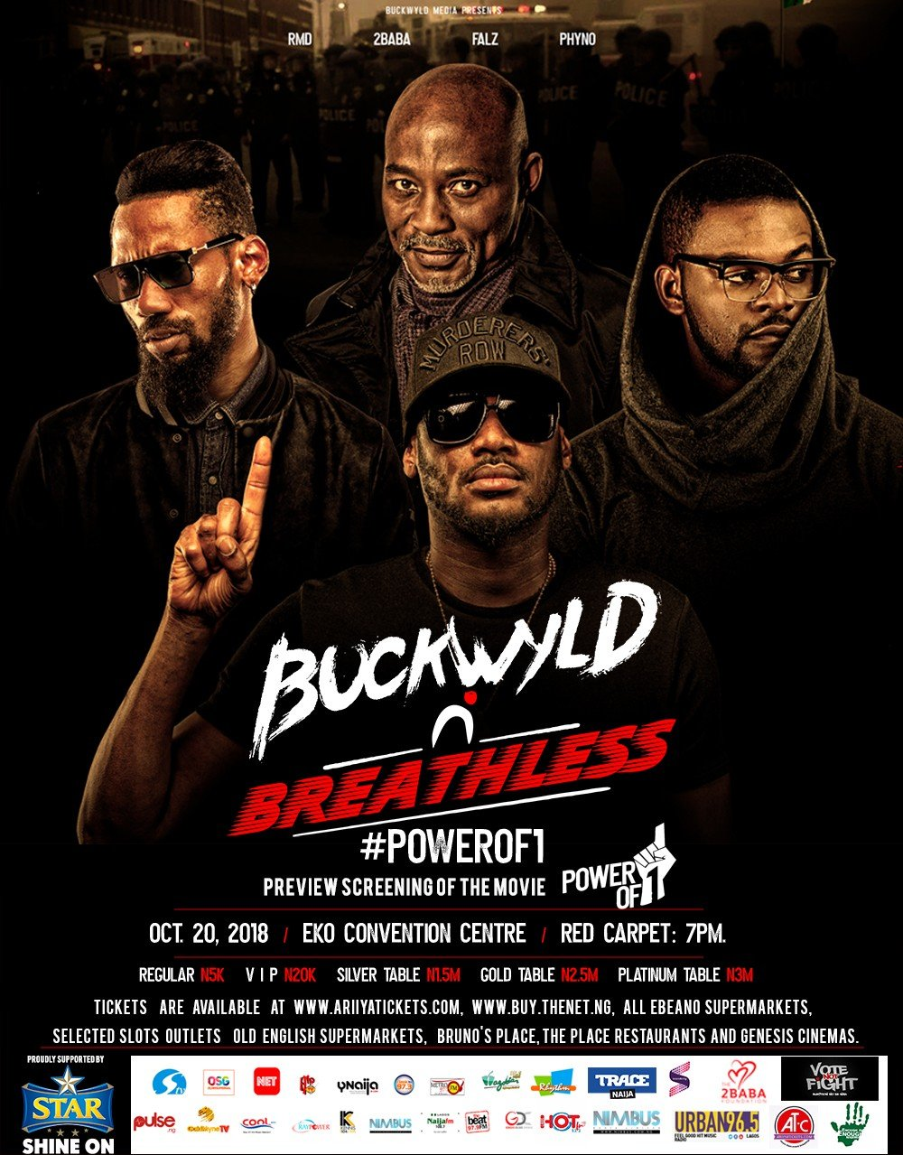 2face's Buckwyld 'n' Breathless concert to hold on the 20th of October