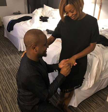 Group Executive Director of Film House Cinema Moses Olumuyiwa Babatope re-proposes to his wife of ten years
