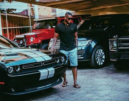 Peter Okoye shows off his fleet of cars again