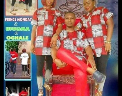 Another double wedding as a Delta prince is set to marry two women on the same day