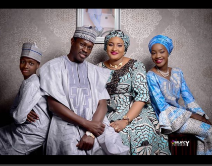 Actor Ali Nuhu and his family serves northern hotness in this photo
