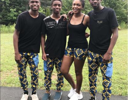 Omoni Oboli and her Sons