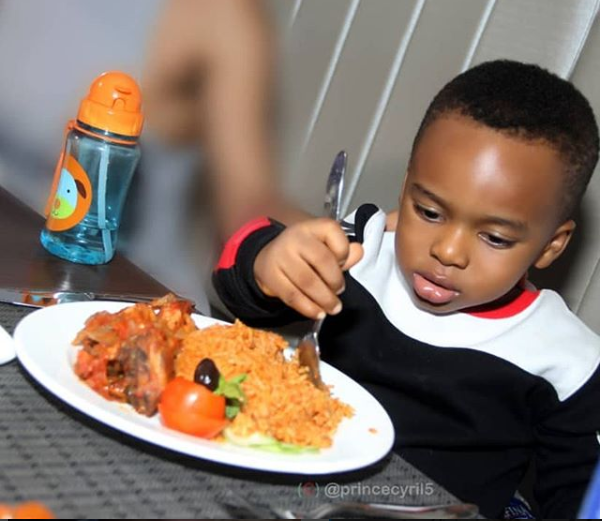 Cute photo of Tonto Dikeh's son King Andre