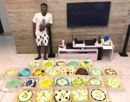 Reekado Banks gets 25 cakes as he clocks 25 today