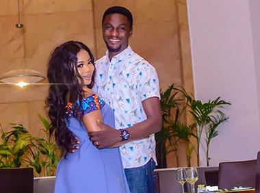 New loved-up photos of Actor Adeniyi Johnson and his fiancee, Seyi Edun
