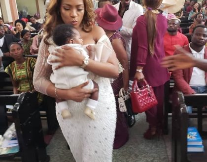 Check out photos from Linda Ikeji's child dedication