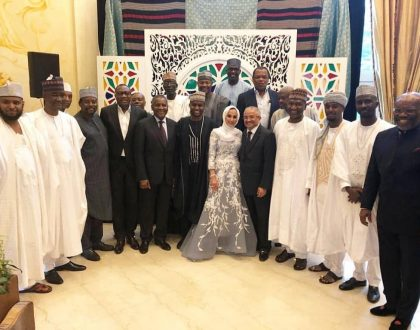 Photos from the wedding of Mohammed Dangote to his Malaysian bride
