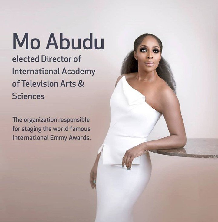Mo Abudu is now a Director of International Academy of Television, Arts and Sciences