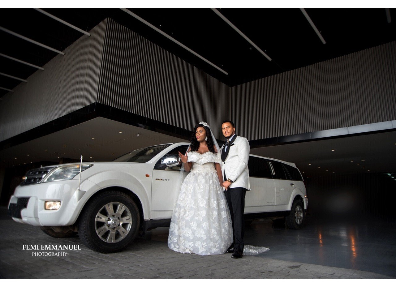 Photos from the white wedding of actor Michael Okon