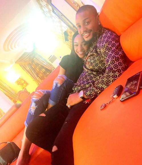 Check out this lovely photo of Alex Ekubo and his girlfriend Fancy Acholonu
