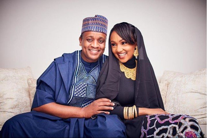 Zahra Buhari and her Husband, Ahmed Indimi Marks Second Wedding Anniversary with Cute Photos