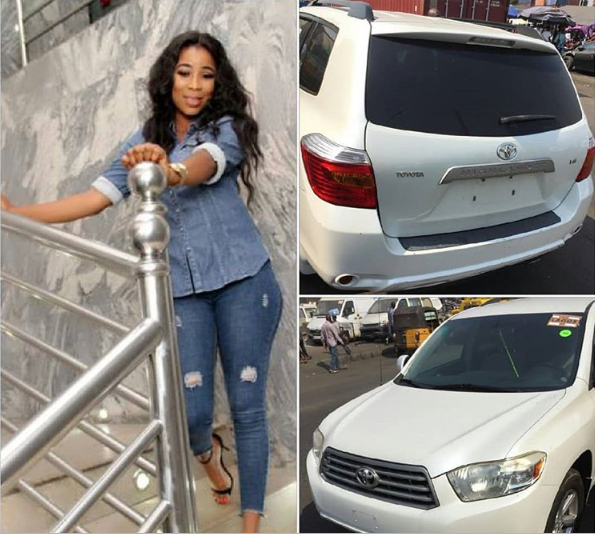 Actress Kemi Korede gets a surprise car from her godfather