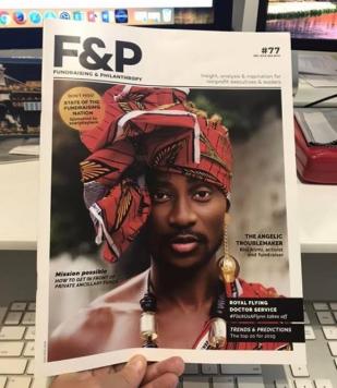 Bisi Alimi covers Australia's F&P magazine