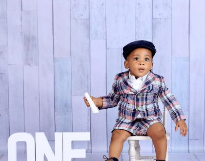 Former beauty queen Powede Aujo shares photos of her son as he clocks 1 today