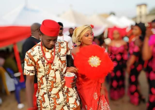 Lady marries  just 2 months after she met her man