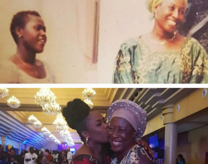 Throwback photo of Patience Ozokwor and Uche Jombo