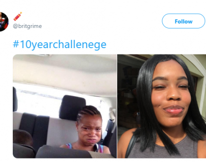 See the 10-year challenge photos of this viral meme lady