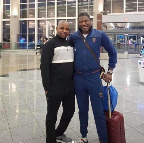 MC Oluomo is back in Nigeria after undergoing medical treatment in the US