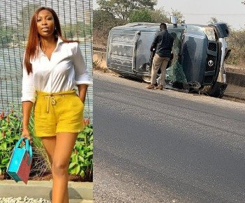 Bolanle Olukanni narrowly escapes death in a car accident