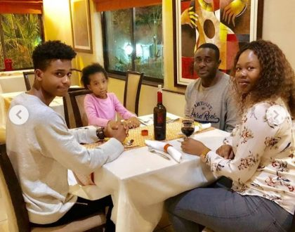 Emeka Ike takes his wife-to-be to dinner with two of his kids on her birthday