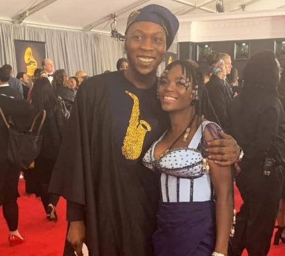 Seun Kuti and his partner, Yeide boo'd up to the Grammy's