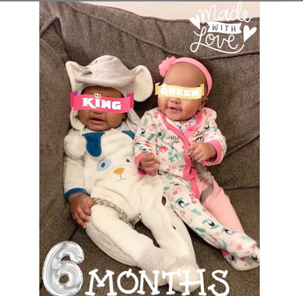 See this photo of Emma Nyra's adorable twins, Alexandria and Alexander