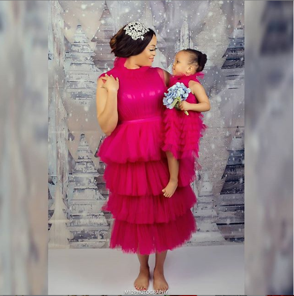 Photos of Adaeze Yobo and her daughter Lexine as she clocks 2