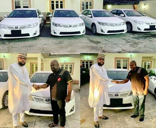 E-Money celebrates birthday by buying brand new cars for his domestic staff