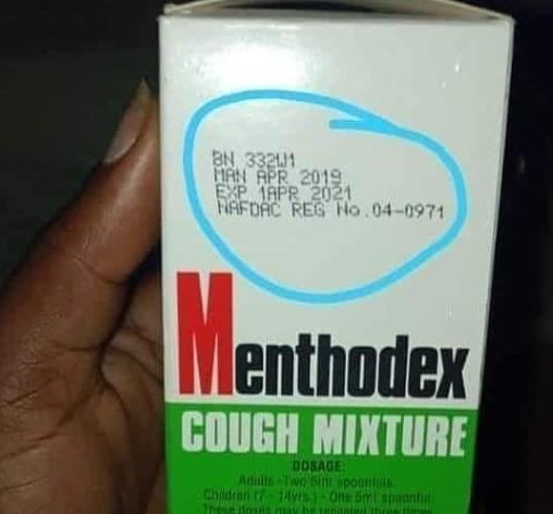 See this cough syrup that has a future manufacturing date of April
