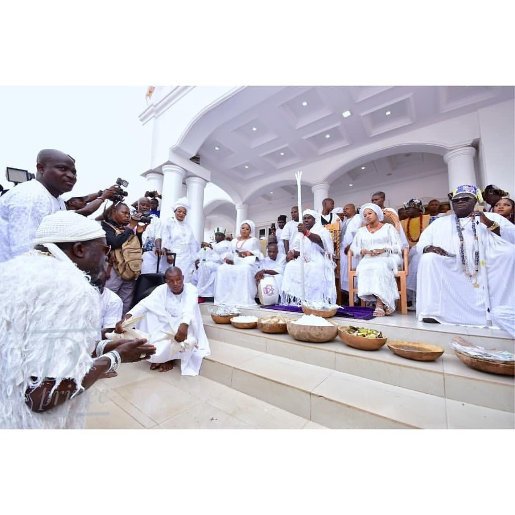 Ooni of Ife and Olori Prophetess Naomi celebrates Aje Festival (photos)