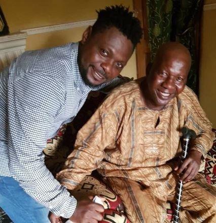 Nollywood actors visit Baba Suwe at home