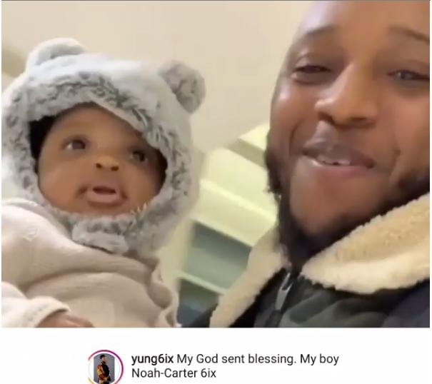 Photos of Rapper Yung6ix and his son Noah-Carter 6ix
