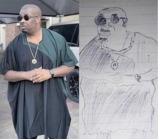 Lol!!! what do you think of this Don Jazzy's pencil sketch