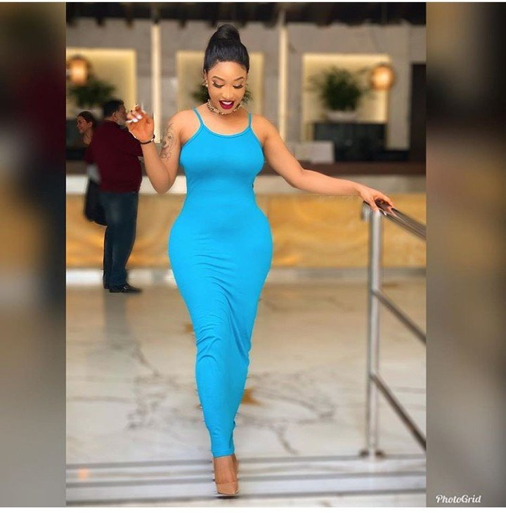 Tonto Dikeh shows off the dress she bought for less than #1500