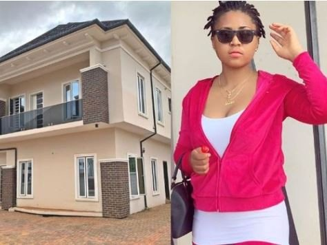 Actress Regina Daniels gets  her mom a new house