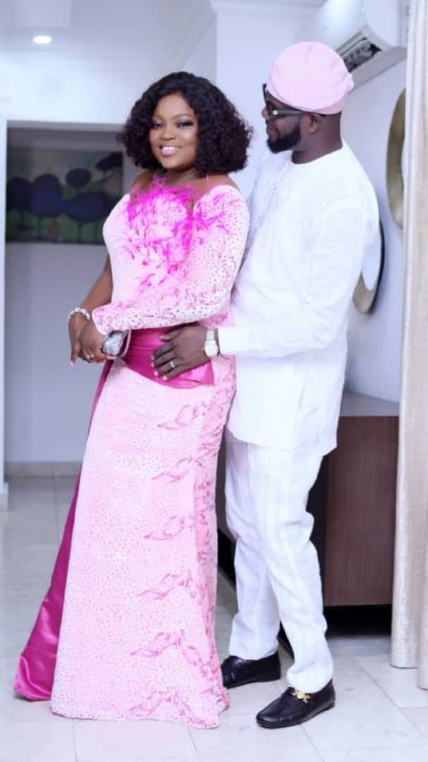 See how Funke Akindele and JJC stepped out for Temidayo Abudu's wedding