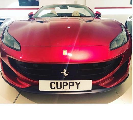 DJ Cuppy gets herself a new customized Ferrari