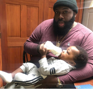 Davido's hypeman, Special Spesh shared photos of himself and son