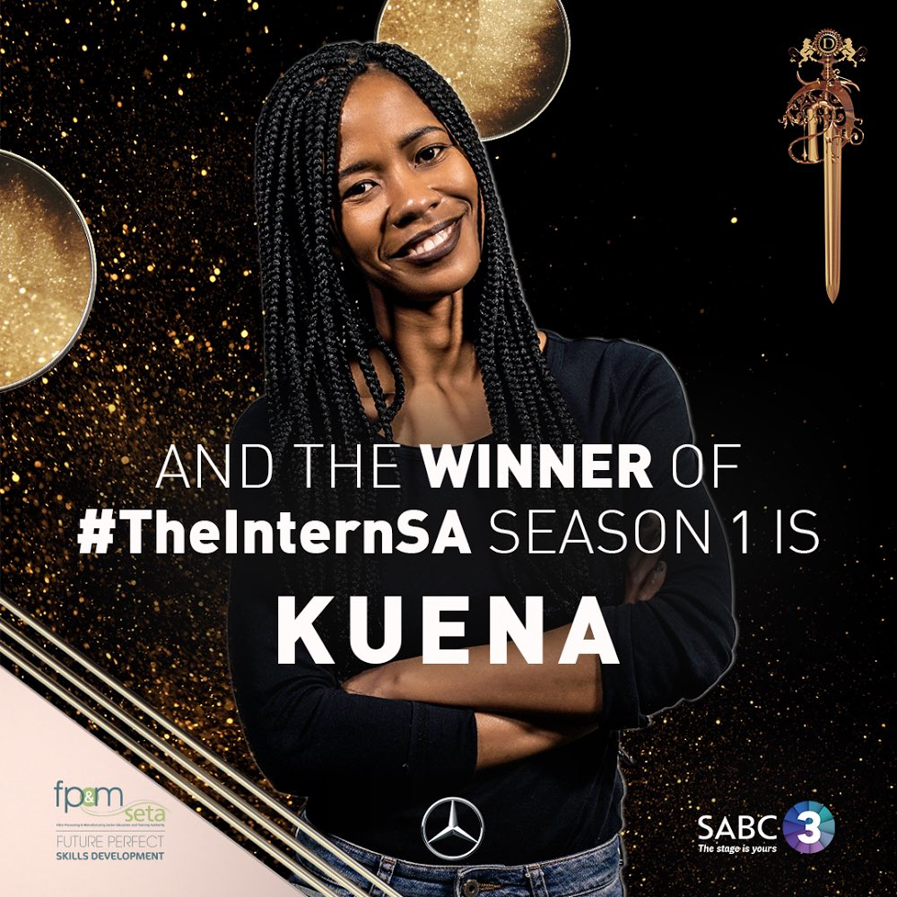 Kuena Moshoeshoe wins 'The Intern SA'