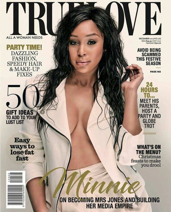 Minnie Dlamini goes shirtless in True Love cover