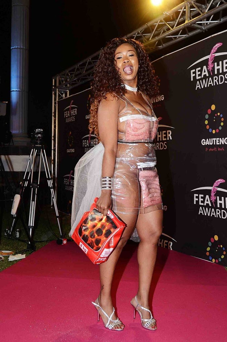 Pictures; Skolopad Rocks Boerewors Dress To Feather Awards.